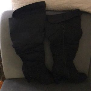 Shoes - Full figure knee-high boot